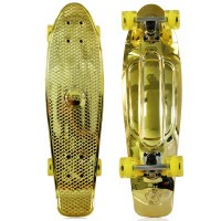 "NKD Shiny Deluxe Skateboard 27"" - Gold"